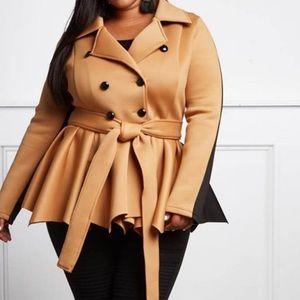 Jackets & Blazers - Plus size two tone coat